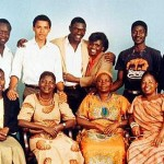 Barack Obama poses with his paternal Kenyan family.