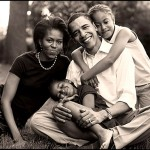 Barack and Michelle Obama with daughters Malia and Sasha.