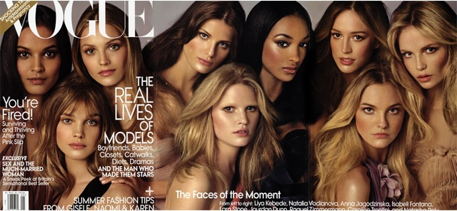 Color on the Cover: Models Liya Kebede & Jourdan Dunn Among 'Faces of the Moment' for <em>Vogue</em> May 2009 Issue