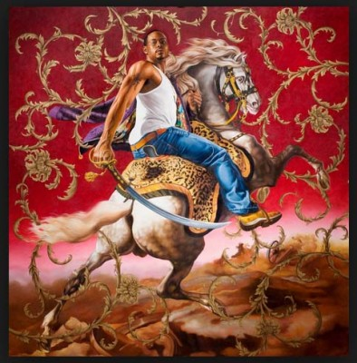 Rumors of War, Officer of the Hussars, 2007, Oil and Enamel on Canvas