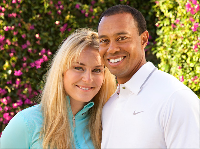 Tiger Splits with Pro-Skier Lindsey Vonn, Tees off with Pro-Golfer's Ex-Wife Amanda Boyd
